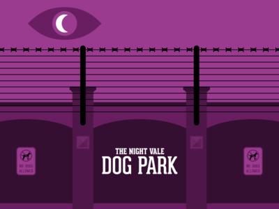 The Dog Park spooky illustration dog park night vale