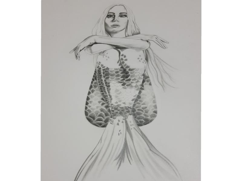 Mermaid🧜🏻♀️✏ mermaid graphite paper