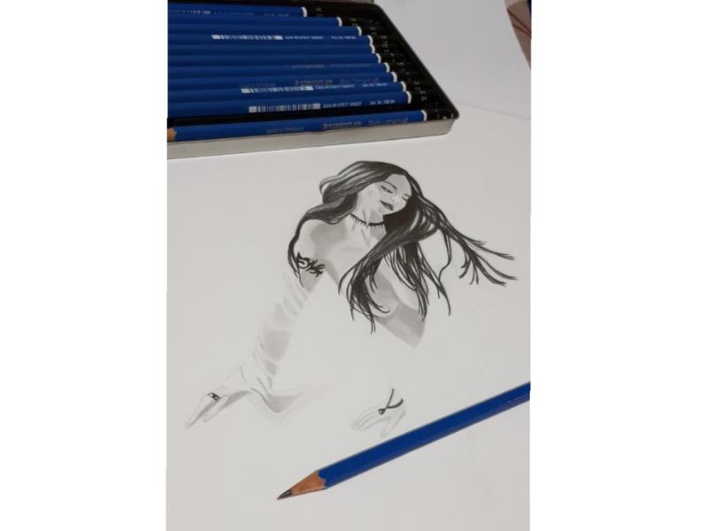 Girl Portait🧜🏻♀️ mermaid girl graphite