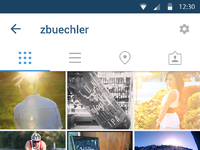 Instgram material 0003 profile scrolled