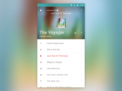 Material Design Audio Player l android l material design audio player music free psd android material design