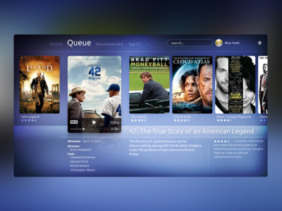 Browse Movies tv ui browse movies television queue synopsis