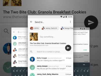 Share this with your friends cookies send app ui android material design share