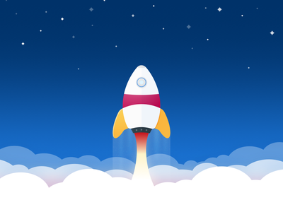 Let's launch something 🚀  clouds teaser vector sketch illustration rocket 🚀