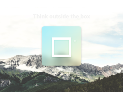 Think Outside the box landscape gradient box icon