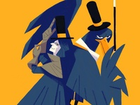 Crow and magician