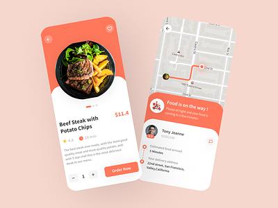 Deliver Me - Delivery Food APP mobile mobile design food app delivery app food typography app design ui