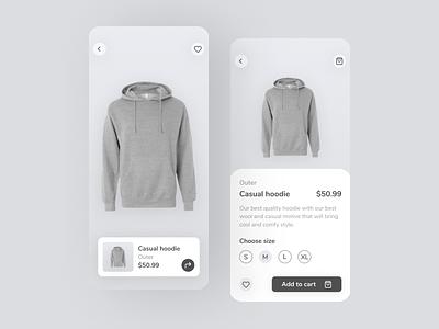 Cloths Mobile  APP - Clothing Store shop shop app ecommerce mobile design ecommerce app clothing app ux minimal design app mobile ui