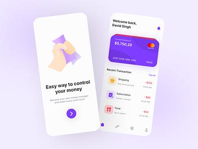 Kubayar | E - Wallet Mobile APP clean minimal e wallet mobile app finance app mobile app e wallet mobile design mobile design app ui