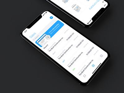 Accounting app mobile accounting finance ui ios