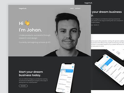 Portfolio SS21 Refresh grayscale minimal ui clean branding personal website ux designer portfolio
