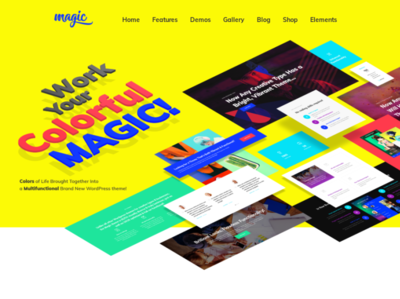 Multipurpose Creative WordPress Theme - Magic