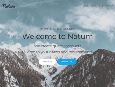 Web Design Multipurpose WordPress Theme - Natum