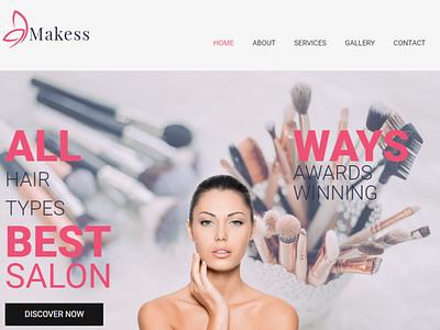 Makess - Beauty Salon WordPress Theme hair salon beaty salon wordpress designs blog design website template elementor wordpress design design elementor templates wordpress theme