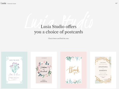 Lusia - Card Design Website WordPress Theme blog design branding illustration business design elementor wordpress design elementor templates wordpress theme