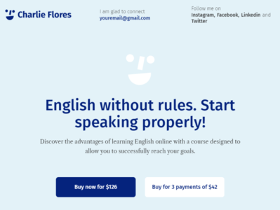 Charlie Flores - Teaching Portfolio Website WordPress Theme blog business blog design wordpress designs wordpress themes elementor wordpress design elementor templates wordpress theme