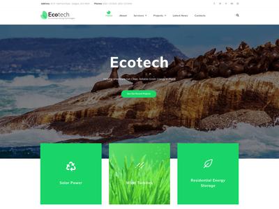 EcoTech - Environment Elementor WordPress Theme ecology business blog design wordpress themes wordpress design elementor templates wordpress theme