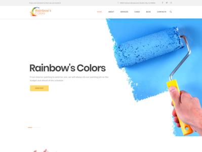 Rainbows Colors - Painting Company Responsive WordPress Theme branding blog design business website template elementor wordpress design elementor templates wordpress theme