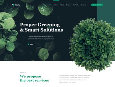 Landscape design WordPress theme - Visity