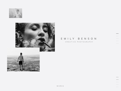 Photographer portfolio landing theme - Emily Benson wordpress landing photographer landing photo portfolio photographer logo photographer portfolio design wordpress themes wordpress theme wordpress design elementor templates elementor