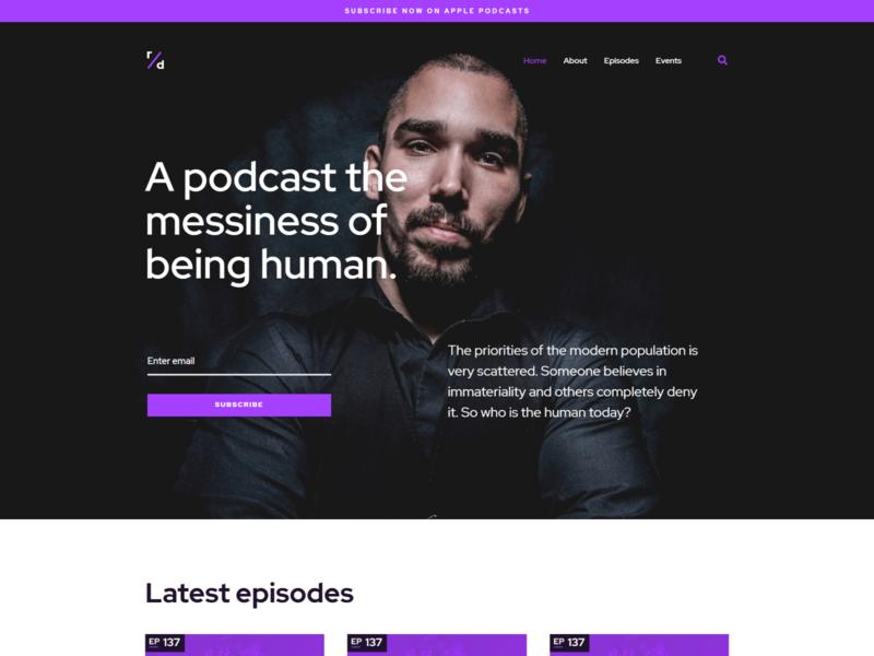 Podcast WordPress theme for Elementor - Richard Dream