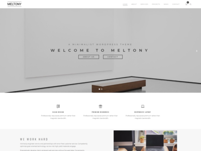Minimalist for Any Businesses - Meltony