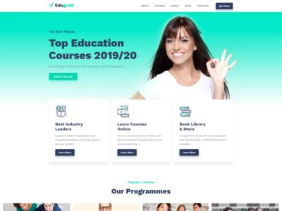 Online Course Website Template - Edugroit