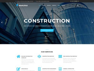 Construction Company Theme - Manufax