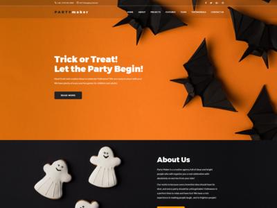 Halloween Wordpress Theme - PartyMaker