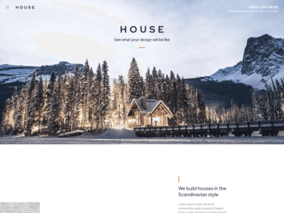 Modern And Minimalistic Construction Project Website - House