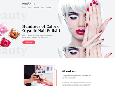 Nail Salon with Great Widgets and Elementor - Poli Nails beauty salon design nail salon design wordpress themes wordpress design elementor templates elementor wordpress theme