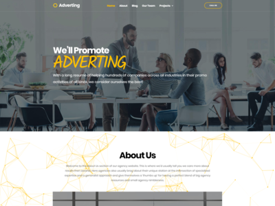 Adaptive WordPress Advertising Agency Template - Adverting