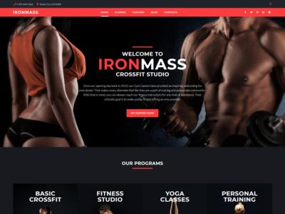 WordPress Sports Website Template - IronMass
