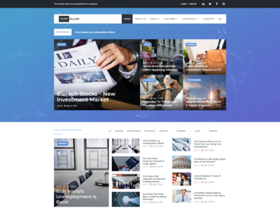 Elementor WordPress blog template - Portallum