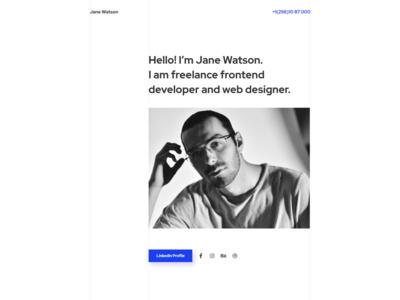 Advanced And Reliable CV WordPress Theme - Jane Watson