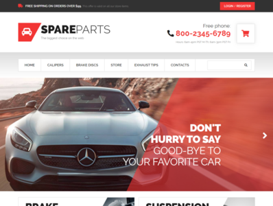 Car Parts Store WooCommerce Theme - SpareParts