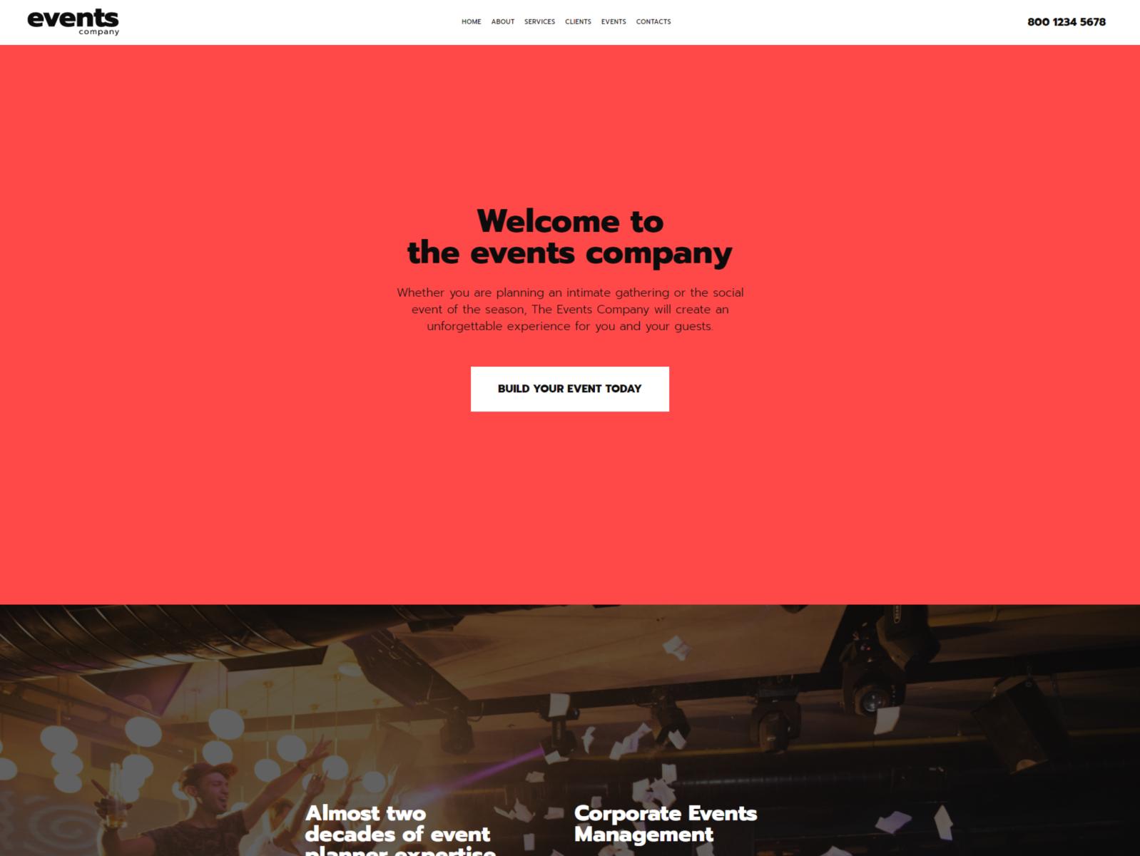 Website templates event company custom website template event.