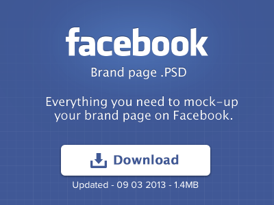 Facebook Brand Page PSD