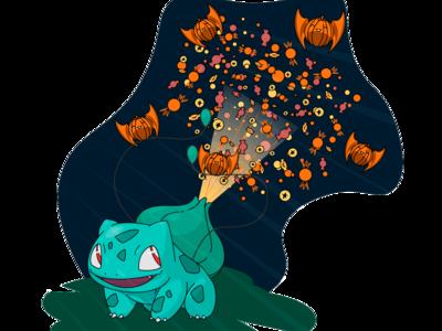 Bulbasaur selebrate halloween