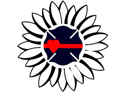 Sunflower with a maltese cross SVG