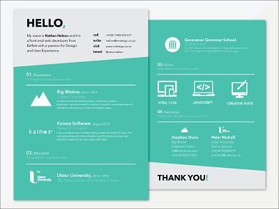 CV cv design development brand nndesign illustrator