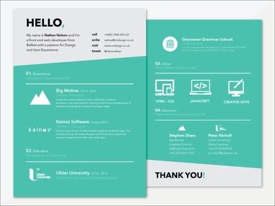 CV cv design development brand nndesign illustrator