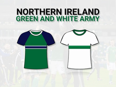Northern Ireland - EURO 2016 Kits white green kits euros euro 2016 football northern ireland