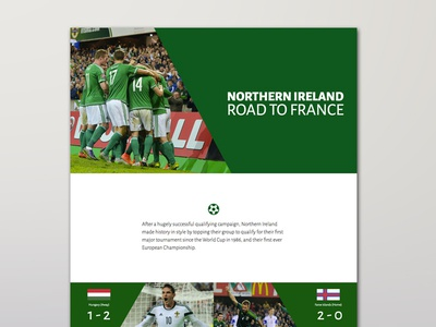 Northern Ireland - Road To France '16 design web side project website tournament european france euros euro 2016 football northern ireland