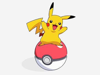 Gotta Catch 'Em All! design game fun pokemon go pokeball illustration pikachu pokemon