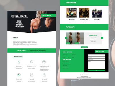 Elite.Fit Personal Training - New Website wordpress responsive personal training pt workout health fitness development design website