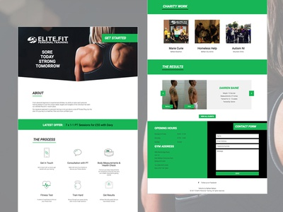 Elite.Fit Personal Training - New Website wordpress responsive personal training pt workout health fitness development design website