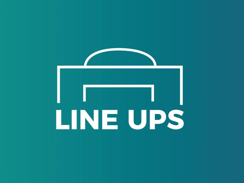 Line Ups - Branding side project website design sport team branding soccer football lineups
