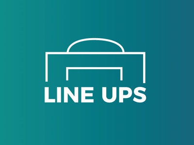 Line Ups - Branding side project website design sport team branding soccer football lineups