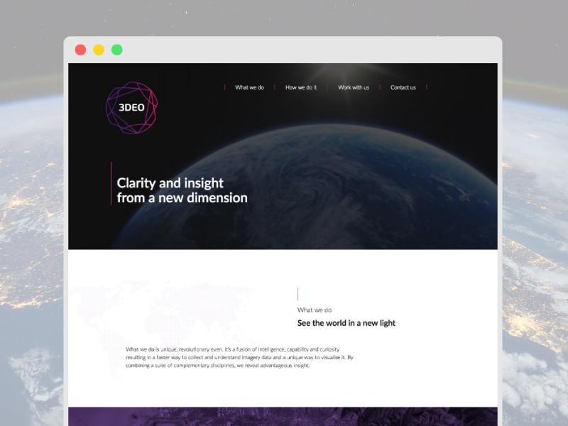 One Page Responsive Website html5 ui bootstrap responsive landing website design satelite space